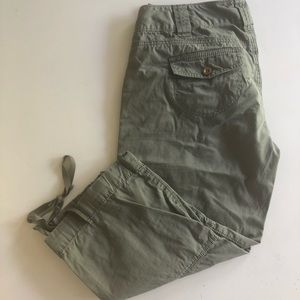 Express Olive Green Capri Pants